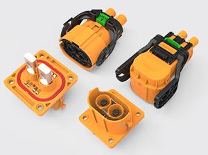 两芯推杆直头/弯头塑胶连接器(35-50方)