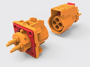 四芯加热塑胶连接器(1.0方)
