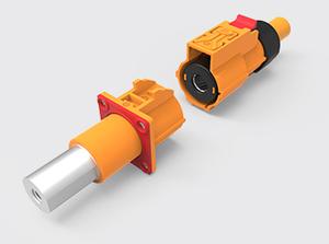 单芯直式塑胶高压连接器(35-50方)