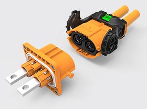 两芯推杆直头塑胶高压连接器(50-70方)