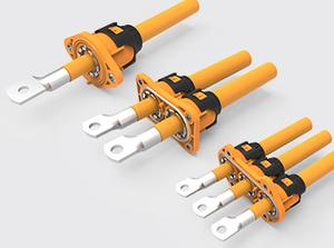 单芯/两心/三芯过孔塑胶高压连接器