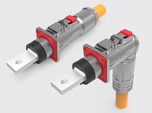 300A单芯直头/弯头金属高压连接器