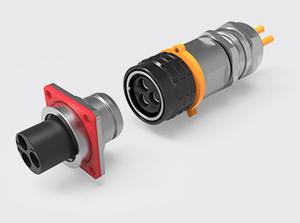 3芯推拉式金属高压连接器(2.5方)
