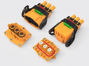 三芯推杆直头/弯头塑胶高压连接器(35-50方)