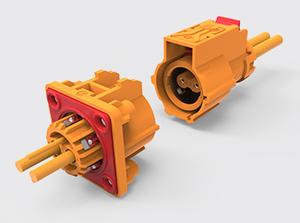 两芯带屏蔽加热塑胶连接器(1-2.5方)