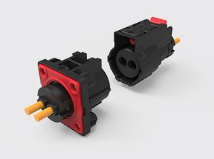 两芯加热膜塑胶连接器(1-2.5方)