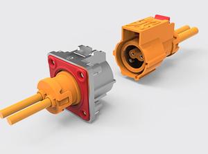 两芯带屏蔽加热塑胶连接器-金属插座(2.5方)